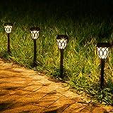 JOYCREATOR Solarleuchten für Außen Garten, 6 Stück LED Solarlampen für Außen Garten mit IP44 Wasserdicht, Solar Wegeleuchte Solarleuchten Garten für Terrasse Boden Garten Deko