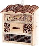 Royal Gardineer Nistkasten: Insektenhotel Marie, Nisthilfe für Nützlinge, 20 x 20 x 7 cm (Insekten-Haus)