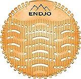 ENDJO Premium Urinalsieb - Spritzschutz und Frischeduft nach Baumwollblüte mit Kalenderfunktion in der Herrentoilette, Urinaleinlage passend für jedes Urinal oder Pissoir (Orange, 6)