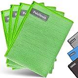 PoloTenze Premium Mikrofaser Trockentuch Waffeltuch | 40x60 cm | für Auto, Glas, Küche, Geschirr, Bad uvm. | Grün, 4er Pack