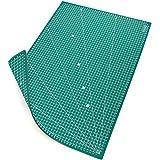 MAXKO Schneidematte A2 (60 x 45 cm), grün, selbstheilend, beidseitig bedruckt mit Raster – Schneideunterlage, Cutting Mat, Schnittunterlage für Rollschneider, umweltschonend aus PVC