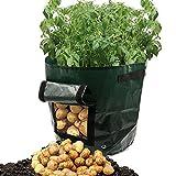 MMLC Pflanztaschen Pflanzsack 34 x 35cm Kartoffel-Pflanzsack mit Belüftung, Stofftaschen, Kartoffelpflanztaschen mit Lasche, für Gemüse, Kartoffeln, Karotten und Zwiebeln (A)