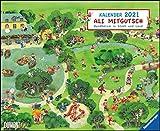 Ali Mitgutsch 2021 – Wimmelbilder – DUMONT Kinder-Kalender – Querformat 52 x 42,5 cm – Spiralbindung: Rundherum in Stadt und Land