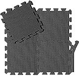 arteesol Schutzmatten Set - 18 Puzzlematten je 30x30x1cm,Premium Bodenschutzmatten Unterlegmatten Fitnessmatten für Sport Fitnessraum Fitnessgeräte Fitness Pool (Matten03-18pcs)