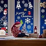 AmzKoi 160 Fensterbilder Weihnachten Selbstklebend, 6 Blätter Weihnachten Fenstersticker Winter Deko Weihnachtsdeko, Fensterbilder Weihnachten Wiederverwendbar