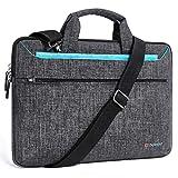 DOMISO 17 Zoll Laptop Tasche Hülle Notebooktasche Wasserdicht Aktentasche Tragetasche Schultertasche für 17.3' Dell Inspiron/MSI GS73VR Stealth Pro/Lenovo IdeaPad/HP Envy/LG Gram/ASUS ROG,Blau