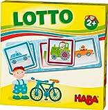 HABA 303765 - HABA-Lieblingsspiele – Lotto Fahrzeuge   Lottospiel mit 4 Ablagekarten und 12 extragroßen Lottokarten aus Pappe   Zuordnungsspiel mit bunten Fahrzeugmotiven   Spielzeug ab 2 jahren