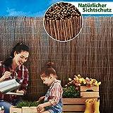 casa pura® Weidenzaun Sichtschutz - Fachhandel-Qualität - kürzbar, rostfrei - Weidenzaunmatte Weidenmatte - Weiden Sichtschutzmatte - Natur Sichtschutz aus Holz - viele Größen - 200 x 500 cm