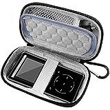 COMECASE-Tasche FÜR MP3-SPIELER, Victure/Soulcker/SVMUU/Ipod Shuffle & Nano mit Bluetooth und anderem Musikplayer. Fit für Kopfhörer, USB-Kabel, Speicherkarte. (Schwarz)