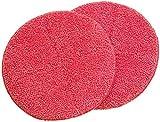 Sichler Haushaltsgeräte Zubehör zu Fußboden Poliermaschine: 2er-Set Ersatz-Reinigungs-Pads mit rauer Oberfläche für FPM-700 (Poliermaschine zur Bodenreinigung)
