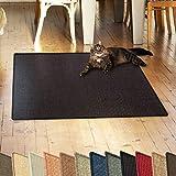 casa pura Sisalteppich Natural Line | ideal als Kratzmatte für Katzen | schadstofffrei & widerstandsfähig | Sisal Kratzteppich in vielen Farben und Größen (Schwarz, 60x80 cm)