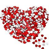 3000 Stücke Glitter Herz Papier Konfetti Silber Rot Tisch Konfetti Herz Pailletten Konfetti für Hochzeit Verlobungsdekor Valentinstag Tisch Scatter Party Dekorationen