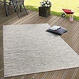 Paco Home In- & Outdoor Flachgewebe Teppich Terrassen Teppiche Mit Farbverlauf In Beige, Grösse:120x160 cm