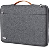 TECOOL Laptop Hülle Tasche für 14 Zoll Lenovo Thinkpad Ideapad HP Acer Dell Notebook Chromebook, 15 Zoll Surface Laptop 3, MacBook PRO 15 Schutzhülle Notebooktasche mit Griff, Dunkelgrau