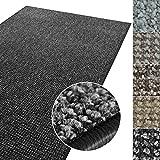 casa pura Kurzflor Teppich Carlton | Flachgewebe dezent Gemustert | robuster Schlingenteppich in vielen Größen | als Wohnzimmerteppich, Küchenteppich, Schlafzimmerteppich (Anthrazit - 300x400 cm)