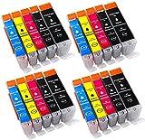20 Druckerpatronen komp. für Canon PGI-570 XL CLI-571 XL für Canon PIXMA MG5700 MG5750 MG5751 MG5752 MG5753 MG6800 MG6850 MG6851 MG6852 MG6853 TS5000 TS5050 TS5051 TS5053 TS5055 TS6050 TS6051 TS6052