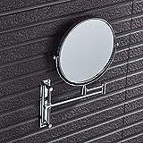 Tuzi Qiuge Spiegel, Wand- Hotel Vanity Spiegel Folding Doppelseitiger Badezimmer-Spiegel-Schönheits-Spiegel