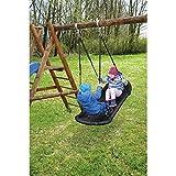 Team-Schaukel / Schaukel für 2 Kinder / Material: Schaumstoffummantelte Metallrohre mit PP-Bezug / Farbe: schwarz / belastbar bis 70 kg