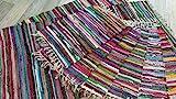 Fleckerl Handweb Teppich Kufstein Multicolor 40x60 60x120 70x140 90x160 130x200 170x240 90x250 90x340 200x300 cm (70x140)