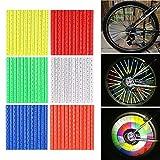 Reflektor für Fahrrad-Speichen 72 Stück, 6 Farben reflektierende Clips für Fahrrad Warnung Sicherheitsstreifen Fahrrad Reflektorröhrchen