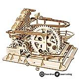 ROKR Holzpuzzle Bausatz 3D Puzzle Holzbausatz Mechanische Modell mit Balls Brainteaser für Kinder, Jugendliche und Erwachsene (Waterwheel Coaster)