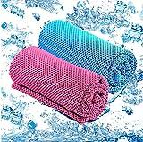 GoaKitum Kühltuch Eistuch für Halstuch-Cooles kaltes Handtuch Mikrofasertuch für Sport Training,Golf, Fitness,Gym,Yoga,Travel,Camping,Wandern,Freizeit & Outdoor Sport