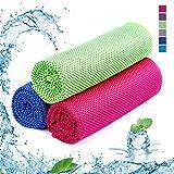 Kühlhandtuch Cooling Towel Cool Towel Kühlendes Handtuch 3er Stück Kühltuch Set Bambus Kühltuch Golf Handtücher Microfaser Handtuch Strandhandtuch Fitness Handtuch Sport 100 x 30cm