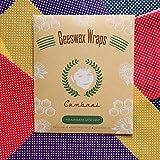 Cambani Bienenwachstücher 8er-Pack Handgemacht in der Europa (2 Klein 2 Mittel 2 Groß 2 Extra Groß) Hergestellt aus 100% Baumwolle, Bio-Bienenwachs, Kaltgepresstem Jojobaöl und Baumharz