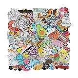 EKKONG Aufkleber, 100 Stück Dekorative Aufkleber, Wasserdicht Vinyl VSCO Stickers Graffitti Decals für Auto Motorräd Fahrrad Skateboard Snowboard Gepäck Laptop MacBook Pad (Vine)