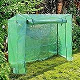 Foliengewächshaus 200x77x169cm Gewächshaus für Tomaten, Treibhaus mit aufrollbarer Tür PE-Gitternetz