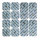 StimPads für Compex* Set von 12 Compex* kompatible Elektroden. (4 X 50x100mm DUAL-SNAP und 8 X 50x50mm). Funktioniert perfekt mit Compex* und 60% billiger in Vergleich mit den Originalelektroden!