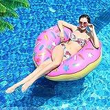 Innoo Tech Donut Schwimmring Aufblasbar, Schwimmreifen für Erwachsene Kinder Luftmatratze Schwimmkissen Spielzeug Party, Pool, Strand Ø 110cm