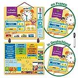 Learn & Climb Kinder Kalender Magnettafel mit Lern-Magneten zur Befestigung an Wand oder Kühlschrank.** Kommt auf Deutsch! Product is in German**