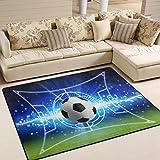 Use7 Fußball-Teppich für Wohnzimmer, Schlafzimmer, Textil, Mehrfarbig, 160cm x 122cm(5.3 x 4 feet)
