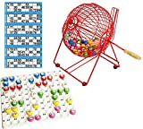Bingokorb mit Kontrollablage und Kugeln mit Kostenlose Bingo-Tickets