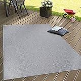 Paco Home In- & Outdoor Flachgewebe Teppich Terrassen Teppiche Natürlicher Look In Grau, Grösse:200x280 cm