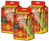 Floragard Aktiv-Tomaten- und Gemüseerde 3x20 L • hochwertige Spezialerde • mit 6-Monate-Langzeitdünger • für Tomaten, Chili, Zucchini, Gurken und anderes Gemüse • 60 L