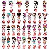 NAXIEE 32 Stücke LOL Beidseitiger Cupcake Topper Geburtstag Kuchen Dekorationen,Kinder Geburtstag Party Decoration,Geburtstagstorte Dekoration