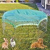 premium xxl Freilaufgehege/Auslaufgitter - ideal für Kleintiere und Hunde/Welpen - mit Schutznetz - 2 Modelle zur Wahl mit oder ohne Bodenschutz - perfekt für drinnen und draußen - winterfest
