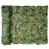 Tarnnetz, Camouflage Net Hunting Outdoor Jagd Militär Dekoration Sonnenschutz (Woodland, 1.5 x 2 m)