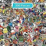 Zelbuck Sticker Pack 300 Stücke Fahrrad Auto Aufkleber Set Wasserdicht Vinyl Graffiti Sticker für Auto Motorräder Fahrrad Skateboard Gepäck Laptop Aufkleber MacBook iPad Erwachsene Teenager