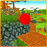 Red Bouncy Ball Balance Pro 3D